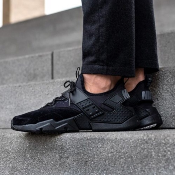 online store fc2c0 e60c6 NWT Nike Air Huarache Drift Black Men s AUTHENTIC